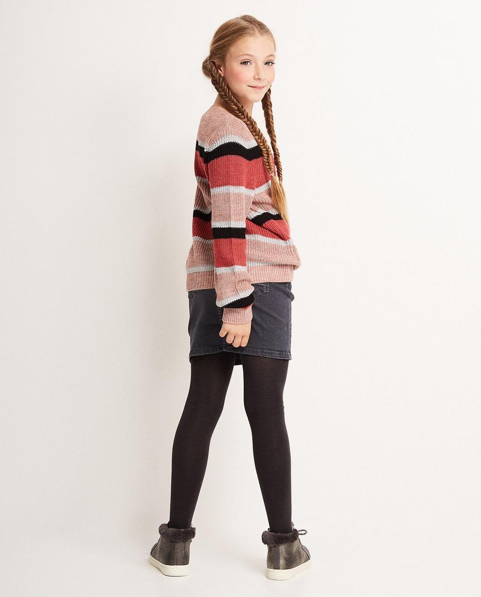 Pullover - Hellpink - Gestreifter Pullover